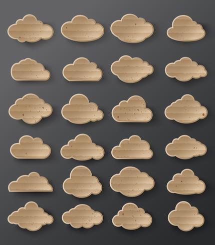 Illustration vectorielle de la collection de nuages