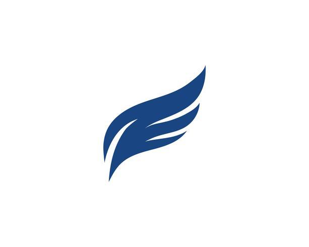Vetor de desenho de ícone de logotipo de asa