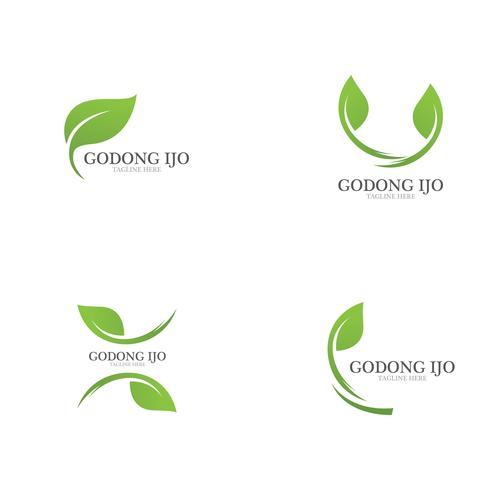 Logos der grünen Blattökologie