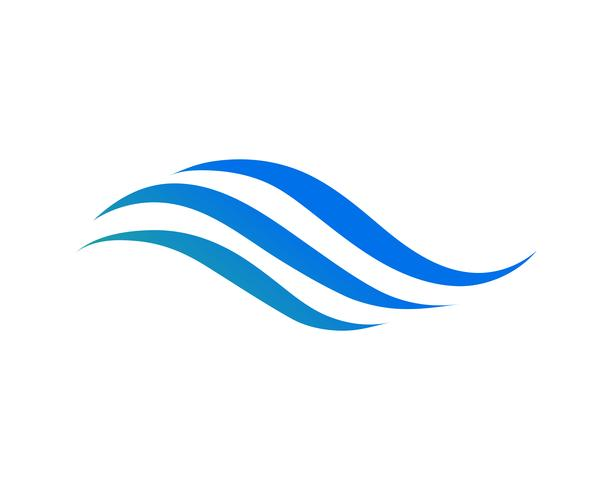 Vetor de ícone de onda de água