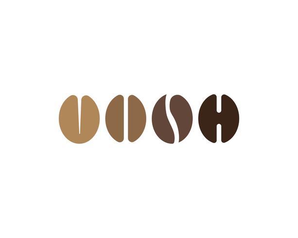 Icône de vecteur de café Logo Template