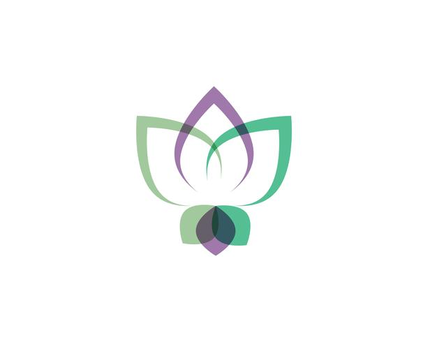 Lotus Flower Sign for Wellness, Spa and Yoga vector
