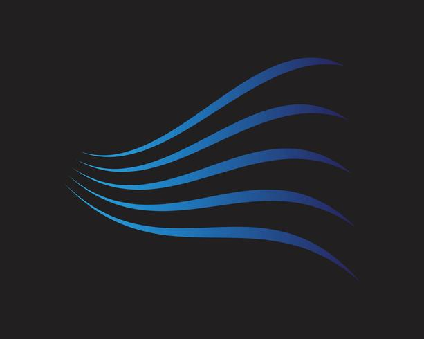Moderne kleurrijke stroomposter. Wave vloeibare vorm op blauwe kleur achtergrond. Kunstontwerp voor uw ontwerpproject. Vector illustratie