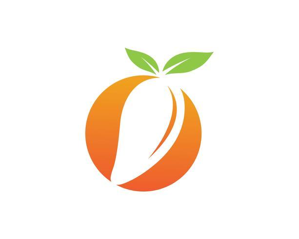 Mango in stile piatto. Logo vettoriale mango. Mango