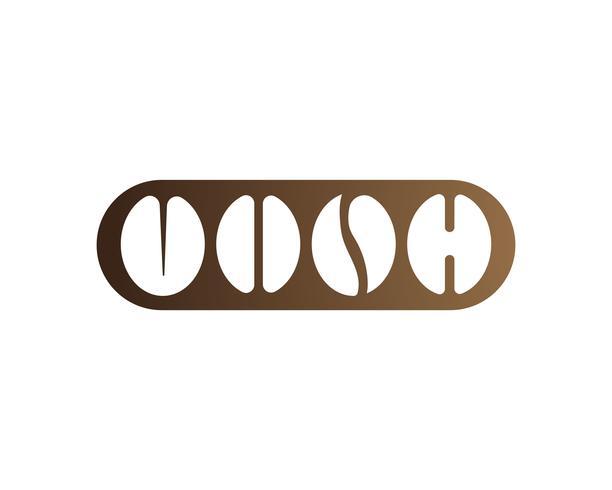 Icona di vettore del modello di logo di caffè