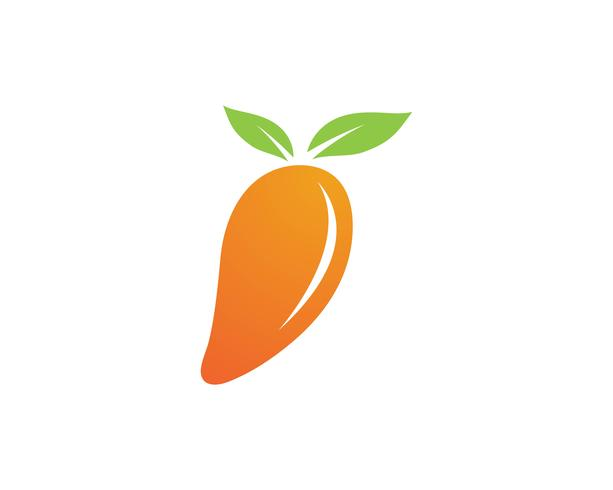 Mango in flat style. Mango vector logo. Mango