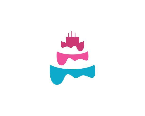 torta modello logo vettoriale modello alimentare