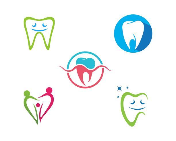 Logo dentale modello illustrazione vettoriale