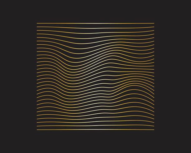 Affiche moderne de flux coloré. Forme liquide Wave sur fond de couleur bleue. Art design pour votre projet de design. Illustration vectorielle