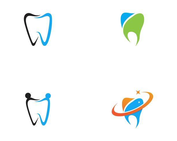 Zahnmedizinische Logo Schablonen-Vektorillustration
