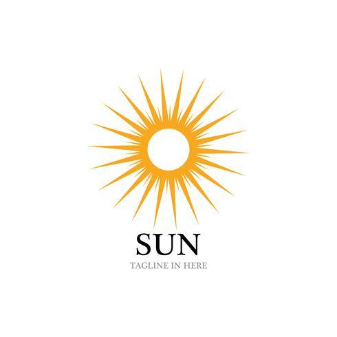 Sonne Vektor-Illustration-Symbol