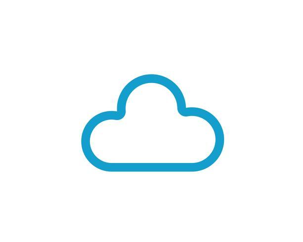 Vettore del modello di nuvola