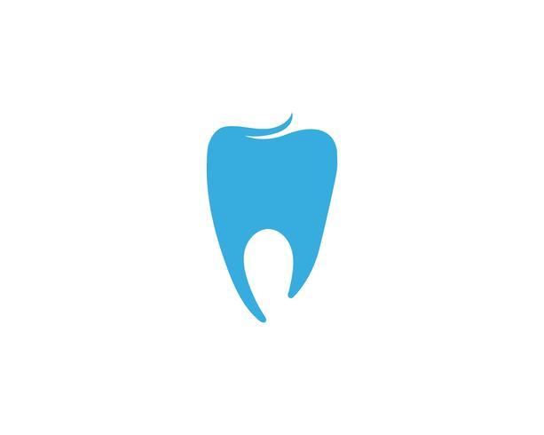 Logotipo dental plantilla ilustración vectorial