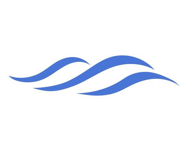 Vettore dell'icona di onda d'acqua