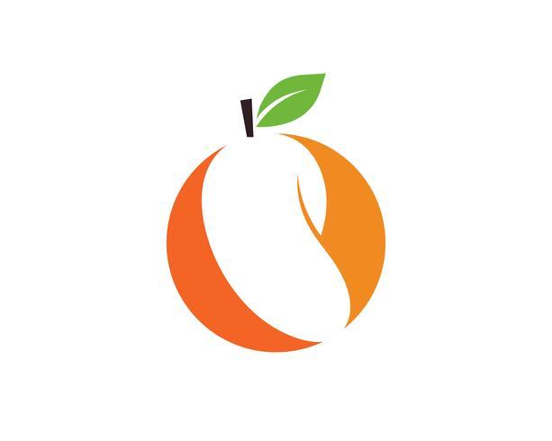 Mango en estilo plano. Mango vector logo. Mango