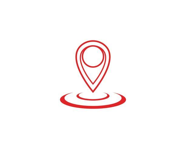 Punto de ubicación Logo vector plantilla