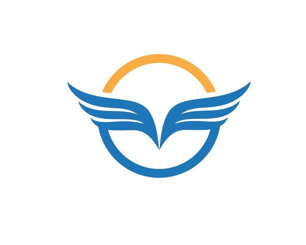 Vetor de modelo de logotipo de falcão