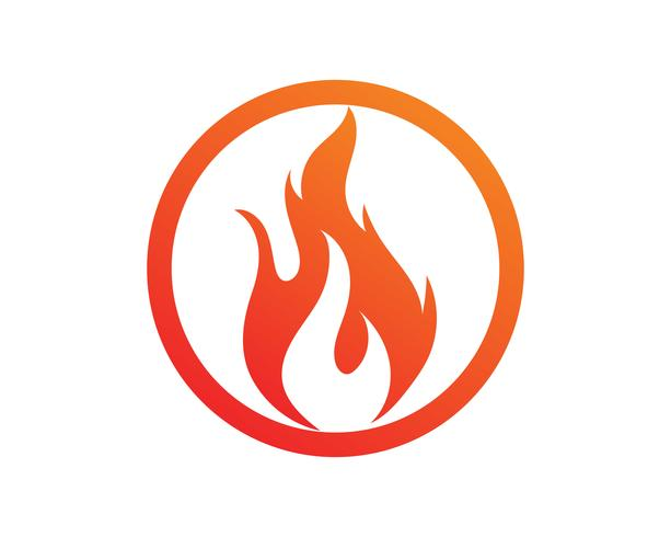 Feuerflammenvektor-Illustrationsdesign