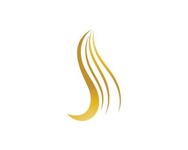 Plantilla y vector de pelo mujer logotipo y símbolos