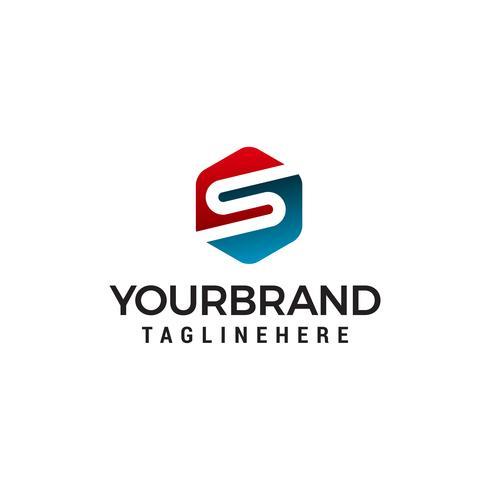 vetor de modelo de conceito de design de logotipo letra s