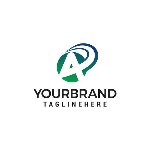 Carta un vector de plantilla de concepto de diseño de logotipo rápido