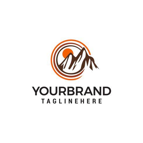 Bergzon logo ontwerp concept sjabloon vector