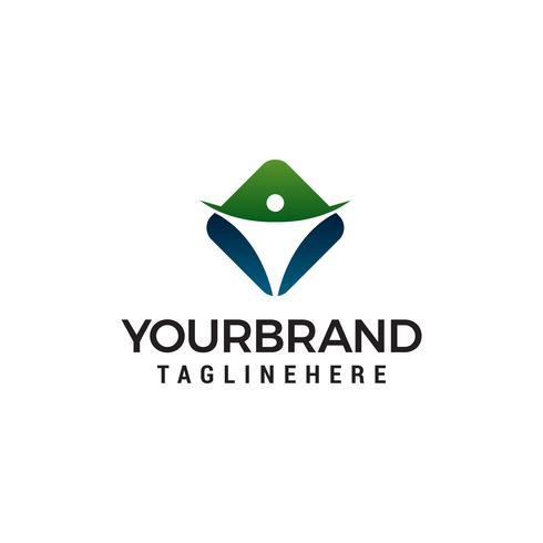 Vector de plantilla de concepto de diseño de logotipo de salud y cuidado