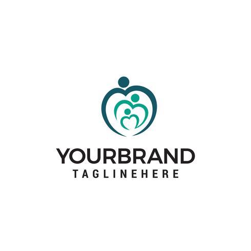 Family love logo design concept template vector