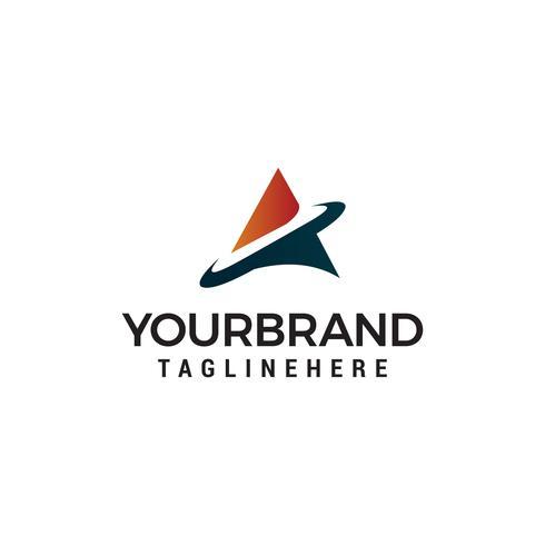 Diseño de plantillas de logotipo letra A tech vector