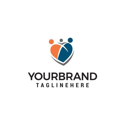 family care logo design concept template vector