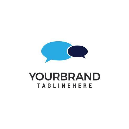 Chat Logo Template-Vektorillustrationsdesign