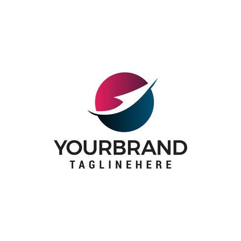 Modèle de concept de flèche logo design concept