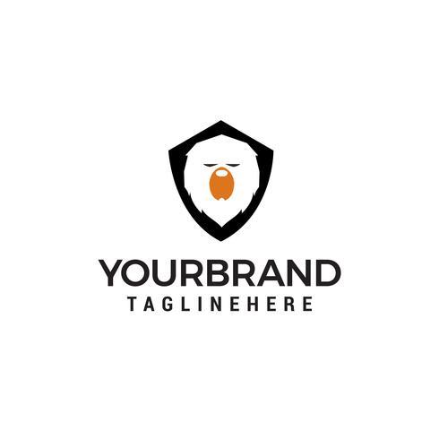 Orso scudo logo design concetto modello vettoriale