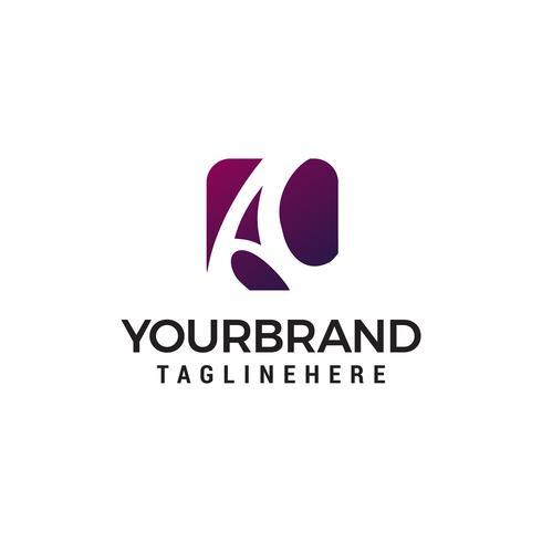 Schreiben Sie einen Logo-Design-Konzept-Vorlage-Vektor