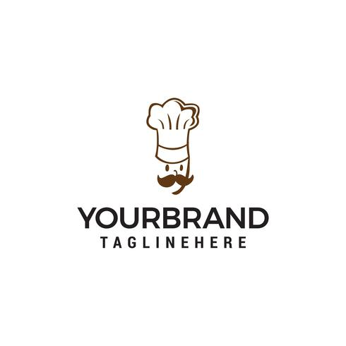 Vettore del modello di concetto di progetto di logo del cuoco unico