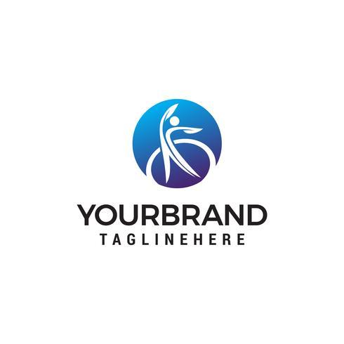 logo de modèle de concept de conception de logo de santé et de soins vecteur