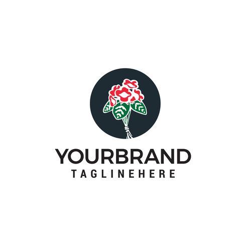 flor rosa logotipo design conceito modelo vector