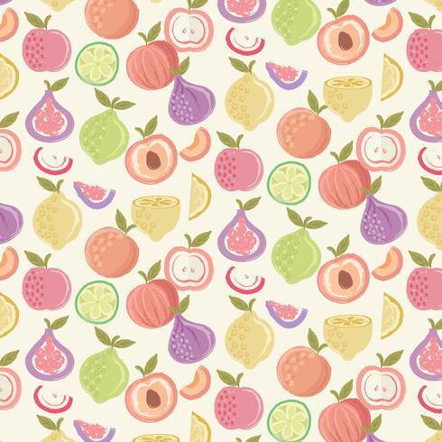 Modello di frutta colorata vettoriale
