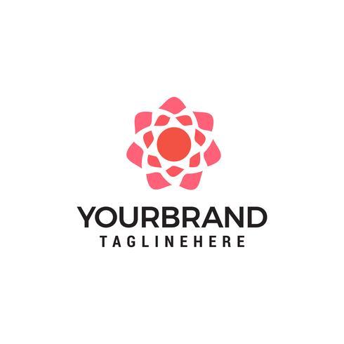 Vecteur de modèle de concept de logo géométrique fleur design