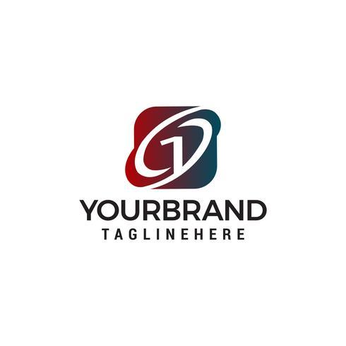 Logodesignkonzept-Schablonenvektor der Nr. 1
