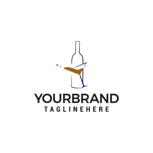 garrafa de cerveja logo design conceito modelo vector