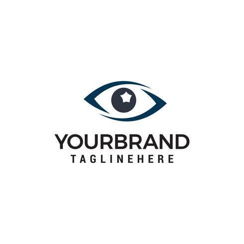 vettore del modello di concetto di progettazione di logo dell'occhio di occhiali
