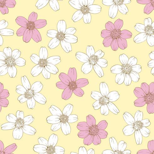 Kleurrijke bloemen naadloze achtergrond.