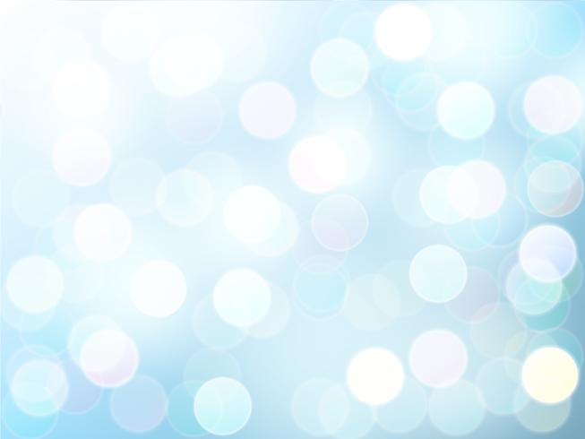 Onduidelijk beeld bokeh lichteffect met blauwe hemel vector abstracte achtergrond.