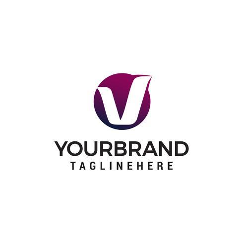 letra v círculo logotipo design conceito modelo vector