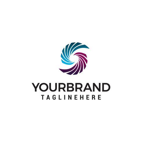 Brief s Drehung Turbine Logo Design Konzept Vorlage Vektor