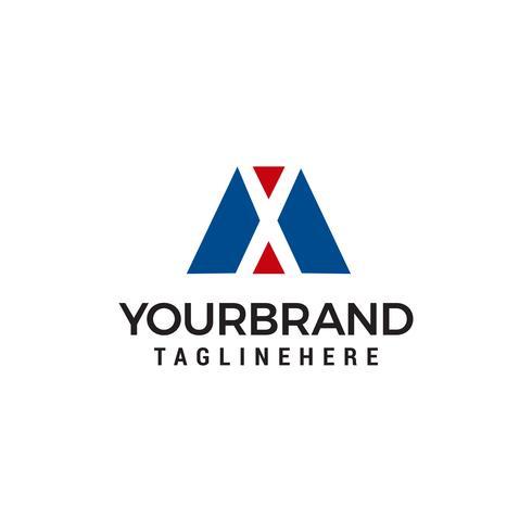 lettera mx logo design concetto modello vettoriale