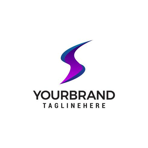 Buchstabe S modernes Logo mit modernem Stil Logo Design Vektor Vorlage