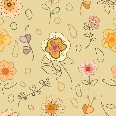 Nahtloser Hintergrund mit Blumendekoration.