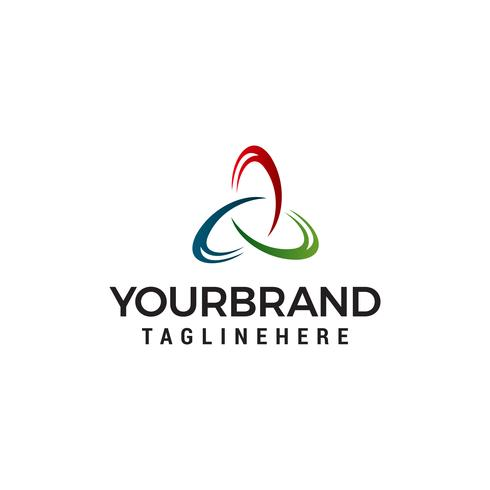 Triángulo Logo empresarial vector abstracto diseño plantilla logotipo diseño concepto vector